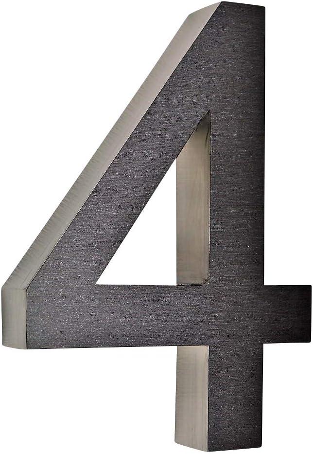 8 Hausnummer 3D Edelstahl V2A diamant 8 anthrazit Arial rostfrei witterungsbest/ändig 20cm Hoch 0 1 2 3 4 5 6 7 8 9 a b c d erh/ältlich
