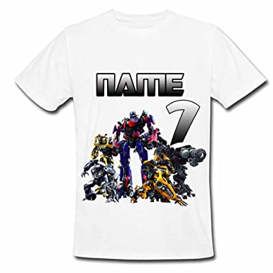 Sprinklecart Personalized Transformers 7th Birthday T Shirt