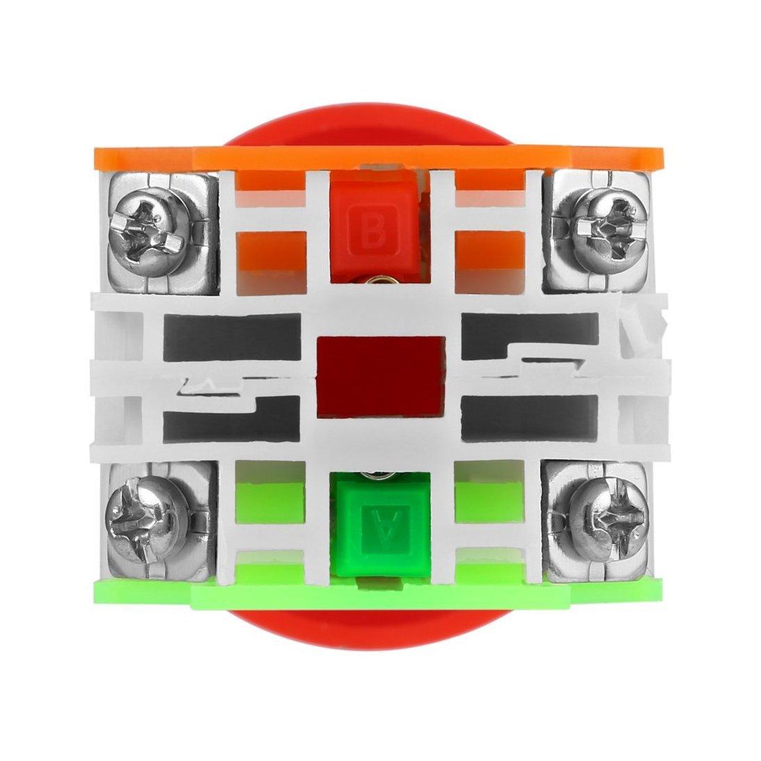 10A Bot/ón de superficie de pl/ástico de 40 mm ToGames-ES Bot/ón NC N//C Interruptor de parada de emergencia Bot/ón pulsador de seta 4 Terminal de tornillo 600 V