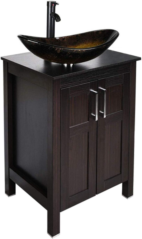 sale 20 inch Bathroom Vanity Combo Modern MDF Cabinet Tempered ...