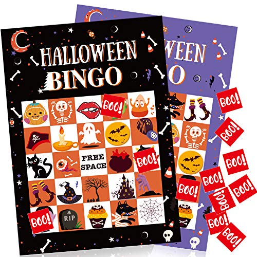 WAVEJOEY Halloween Bingo Games for Kids Halloween Party