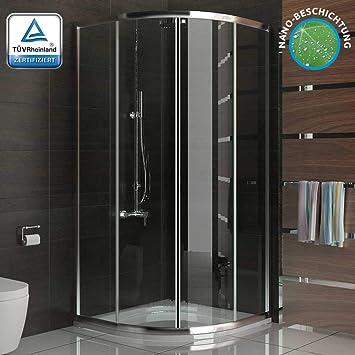 Ducha cabina de ducha con marco de cuadrante ducha 80 x190cm puerta corredera de cristal de seguridad easyclea puertas: Amazon.es: Bricolaje y herramientas