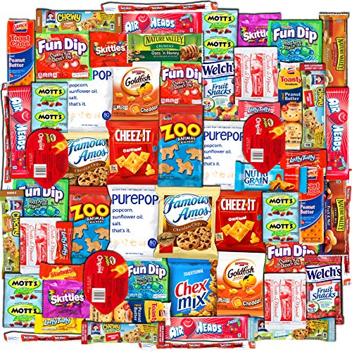 Canopy Care Package (60 Count) Snacks Cookies Bars Chips Candy Ultimate Variety Gift Box Pack Assortment Basket Bundle Mixed Bulk Sampler Treats College Finals Students Office Trips Summer -