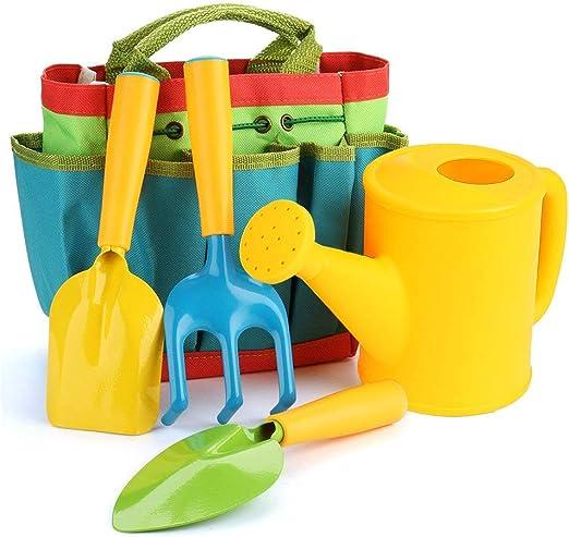 DYM258 Juego de Herramientas de jardín para niños Juego de Juguetes de jardinería para niños, 5