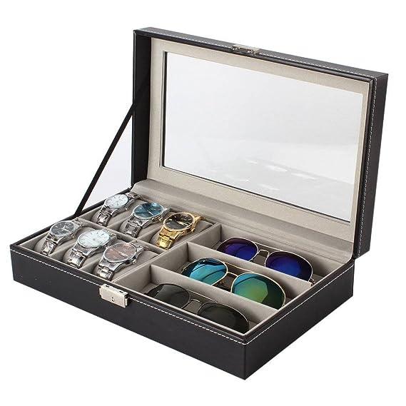 LJX reloj y caja de almacenaje de anuncios de gafas – monocouche 6 mesa de almacenamiento