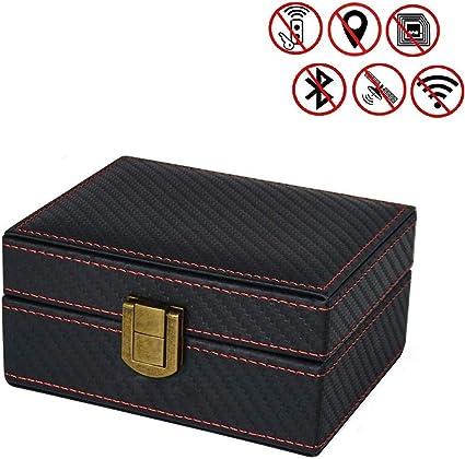 Amazon.es: Konesky Caja Faraday Caja De Bloqueador De Señal Sin Llave para Coche Sin Robo Seguridad RFID Faraday Key Fob Protector para Sostener La Llave del Coche Tarjeta De Crédito Teléfono