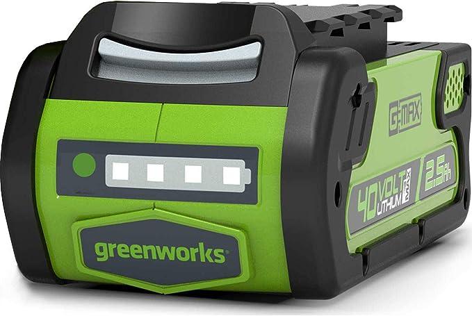 Greenworks Tools Akku G40b25 Li Ion 40 V 2 5 Ah Wiederaufladbarer Leistungsstarker Akku Passend Für Alle Geräte Der 40 V Greenworks Tools Serie Baumarkt