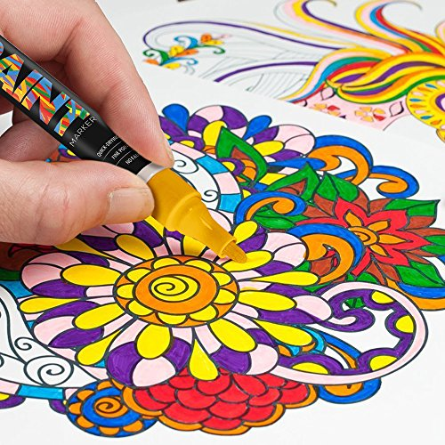 Paintmark Premium Paint Pens 15 Vibrant Oil Paint Marker