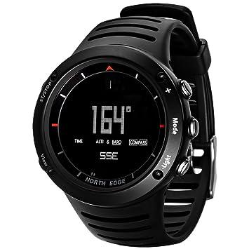 Lixada Hombres Deporte Reloj Digital Altímetro Presión de Aire Brújula Termómetro Tiempo