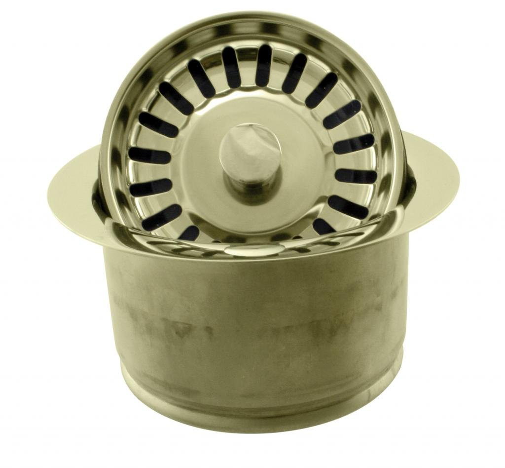 Westbrass InSinkErator Style Extra-Deep Disposal Flange & Strainer, Polished Brass, D2082S-01 by Westbrass