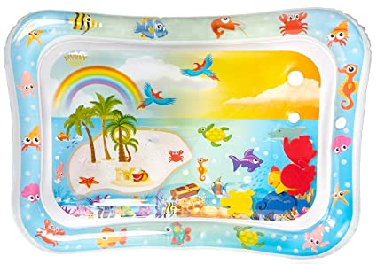 Amazon.com: MyBry Products Baby Tummy Time Water Play Mat ...