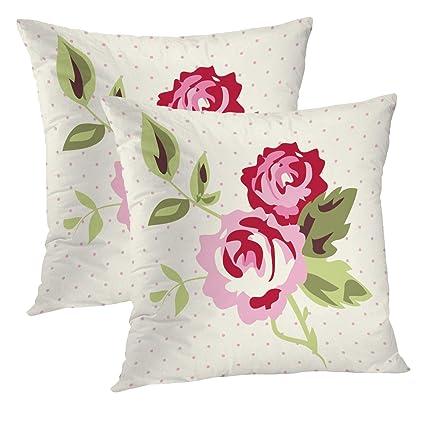 Amazoncom Heroga Rose Pillow Cover 18x18 Inch Set Of 2