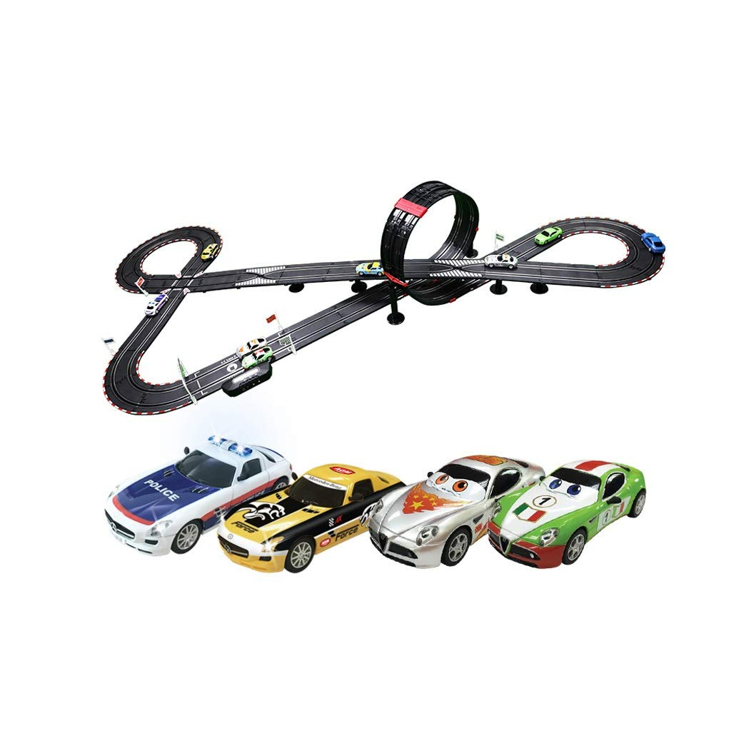 HXGL-Tracks Electric Remote Control Cool Track Mobile Phone Simulation Double Competitive Track Toy Racing Track 7.5 Meters (Size : 7.5m)