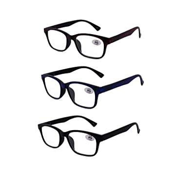 1b380b41f1fc Amazon.com  Amillet Reading Glasses 3 Pack for Men and Women ...