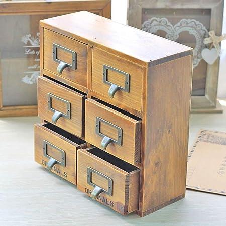 Rack de Almacenamiento de Escritorio Caja de almacenamiento de madera Caja de almacenamiento de múltiples cajones Mesa de trabajo de múltiples capas de madera multifuncional Acabado de almacenamiento: Amazon.es: Hogar
