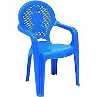 Cadeira Plástica Monobloco com Braços Infantil Estampada Catty, Tramontina, Azul