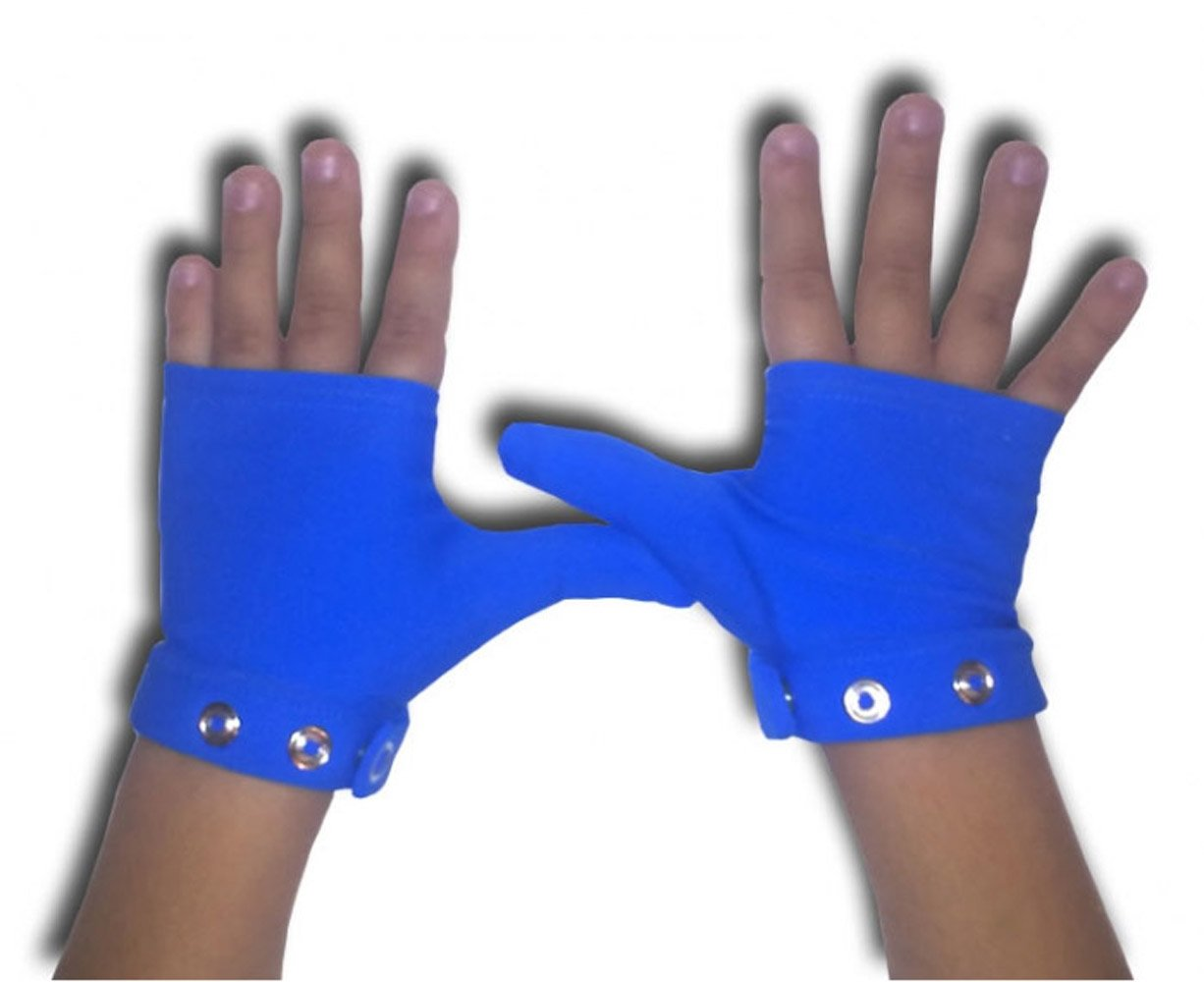 Stop Thumb Sucking with Bouncing Blue Small ages 2 - 4 years old by Glovey Huggey