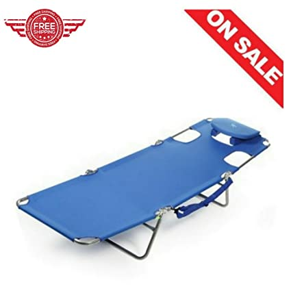Astonishing Amazon Com Beach Lounge Chair With Face Hole Folding Pool Interior Design Ideas Lukepblogthenellocom