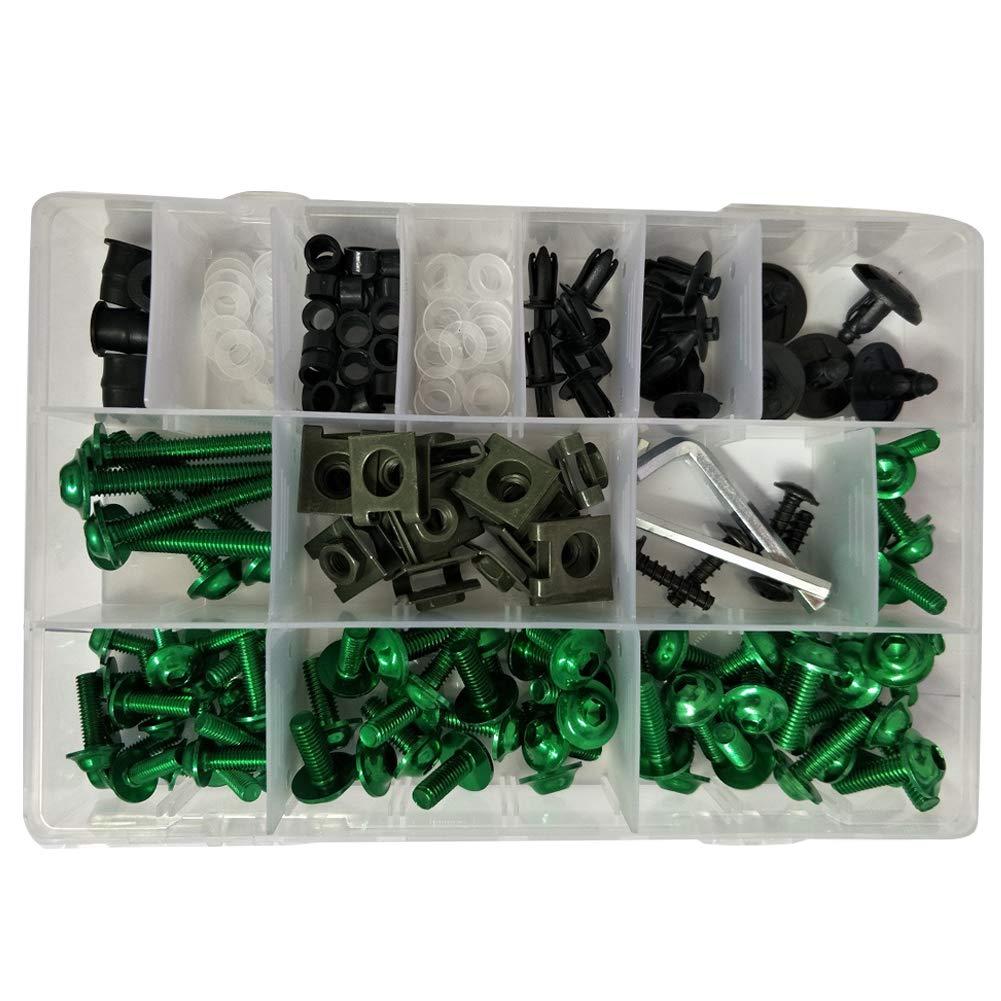 accessori di ricambio per moto Set di viti per carenatura portatile universale verde set di viti colorate