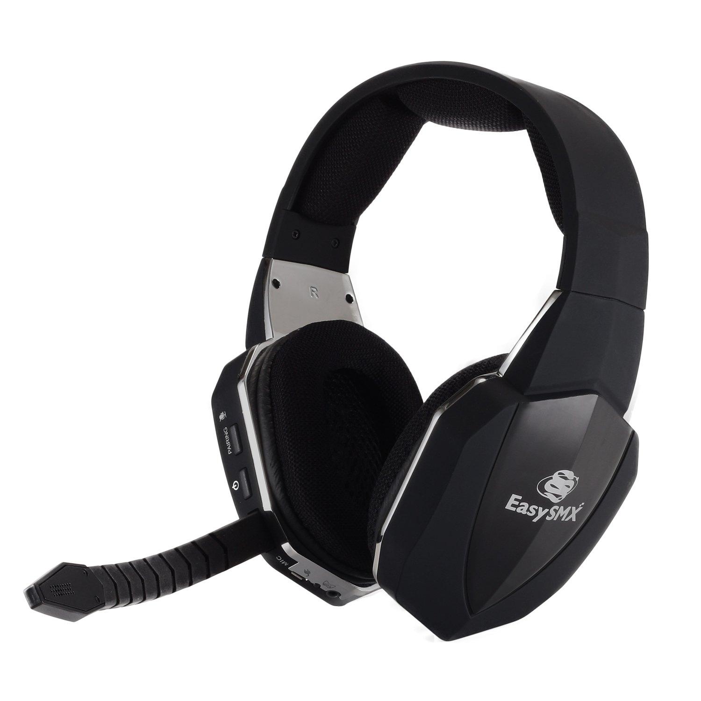 EasySMX 2.4GHz Auriculares Gaming Inalámbricos de diadema para Xbox 360 PS4 PS3 Xbox UNA PC y Mac con Batería Recargable,...