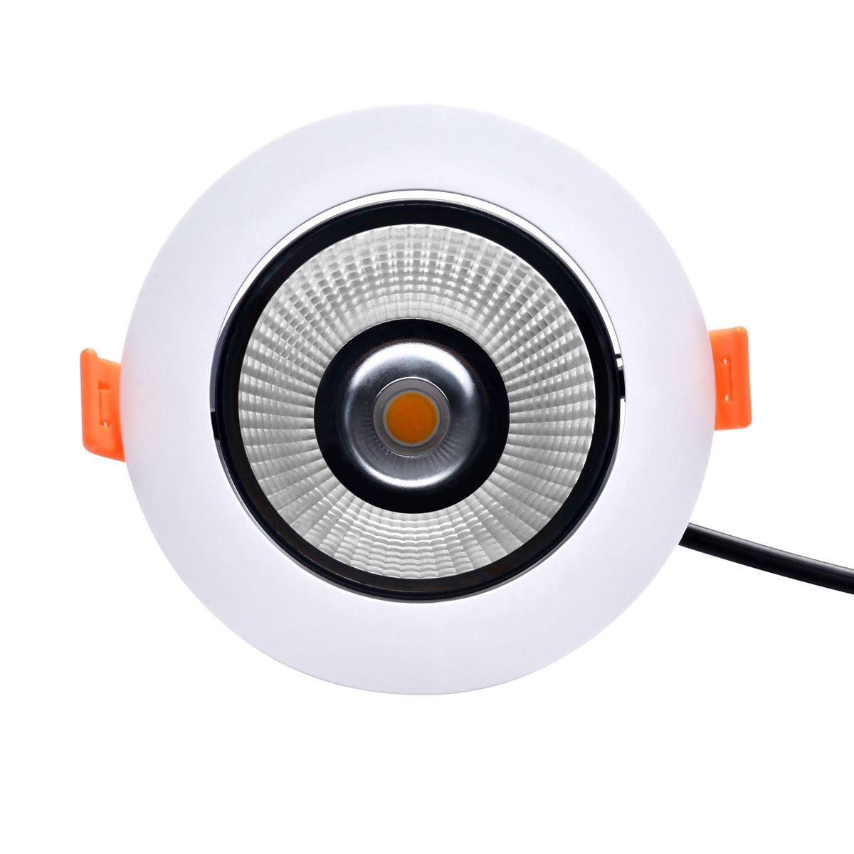 SOLLA 12 W LED Einbauleuchte Fassung rund COB Einbauleuchte B22 60 ...