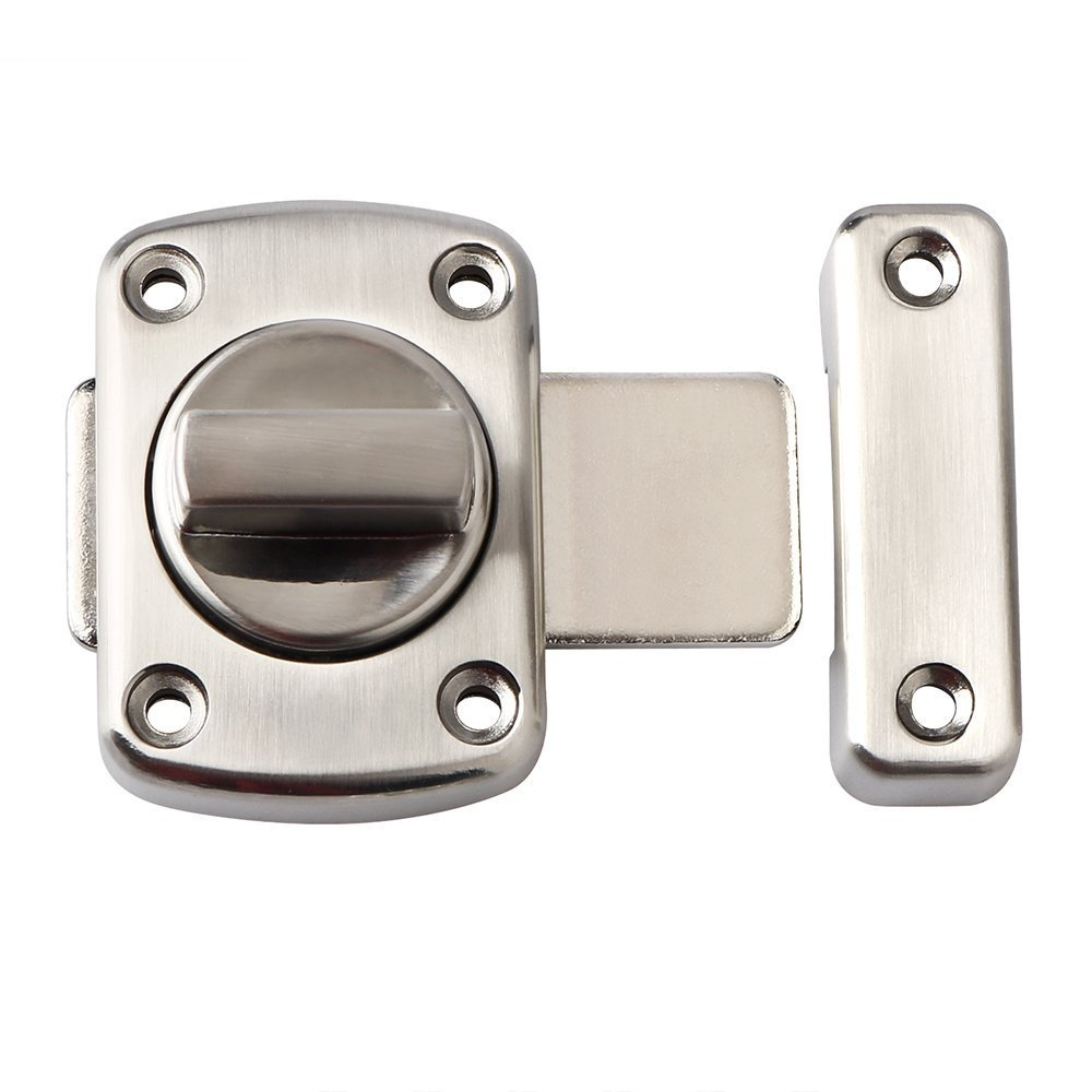 RilexAwhile Solid Rotate Bolt Latch Safety Gate Latches - Lock For Home Door,Hotel Door,Cabinet, Drawer, Furniture