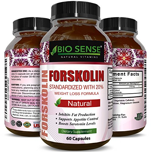 Natural Fat Burner – Pure Forskolin Extract Diet Pills –