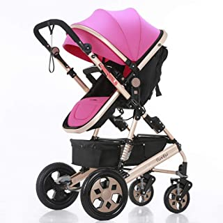 Shisky Strollers & Buggies Baby Carriage,Newborn Baby Stroller Baby car Rubber Wheel Stroller