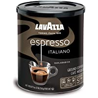 Lavazza Caffe Espresso Ground Coffee Blend, Medium Roast, 8-Ounce Cans (Pack of 4)