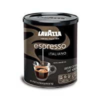 Lavazza Espresso Italiano Ground Coffee Blend, Medium Roast, 8-Ounce Cans,Pack of...