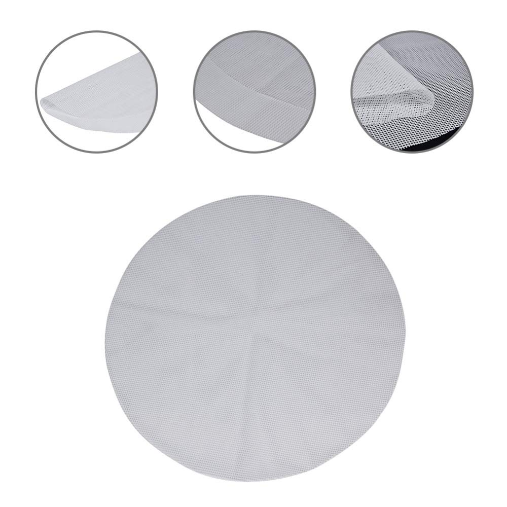 5Pcs 11.8Inch Non-Stick White Silicone Steamer - Silicone Steamer Mesh- Reusable Kitchen Steamer Mat Liners - Dim Sum Paper Restaurant Kitchen -Steamer Paper Liners for Steaming Basket