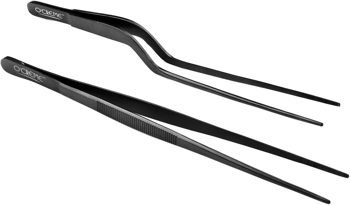 A4I8 Cooking Tweezer For Grill Baking Straight Good Quality Tweezers Garnish 14