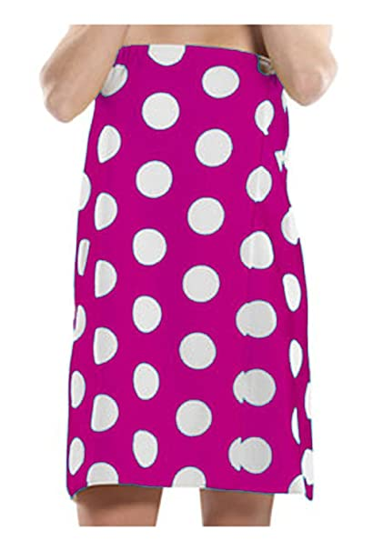 83a36ed176 Image Unavailable. Image not available for. Color: Women Terry Polka Dot Spa  Wrap Cotton Shower Bath Towels - XXL ...