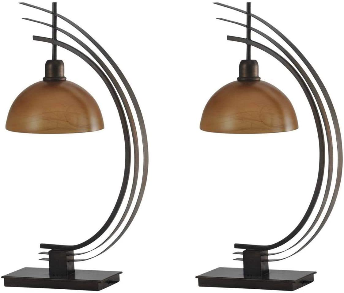 Stylecraft Bronze 29″ Orbit Arc Metal Desk Table Lamp