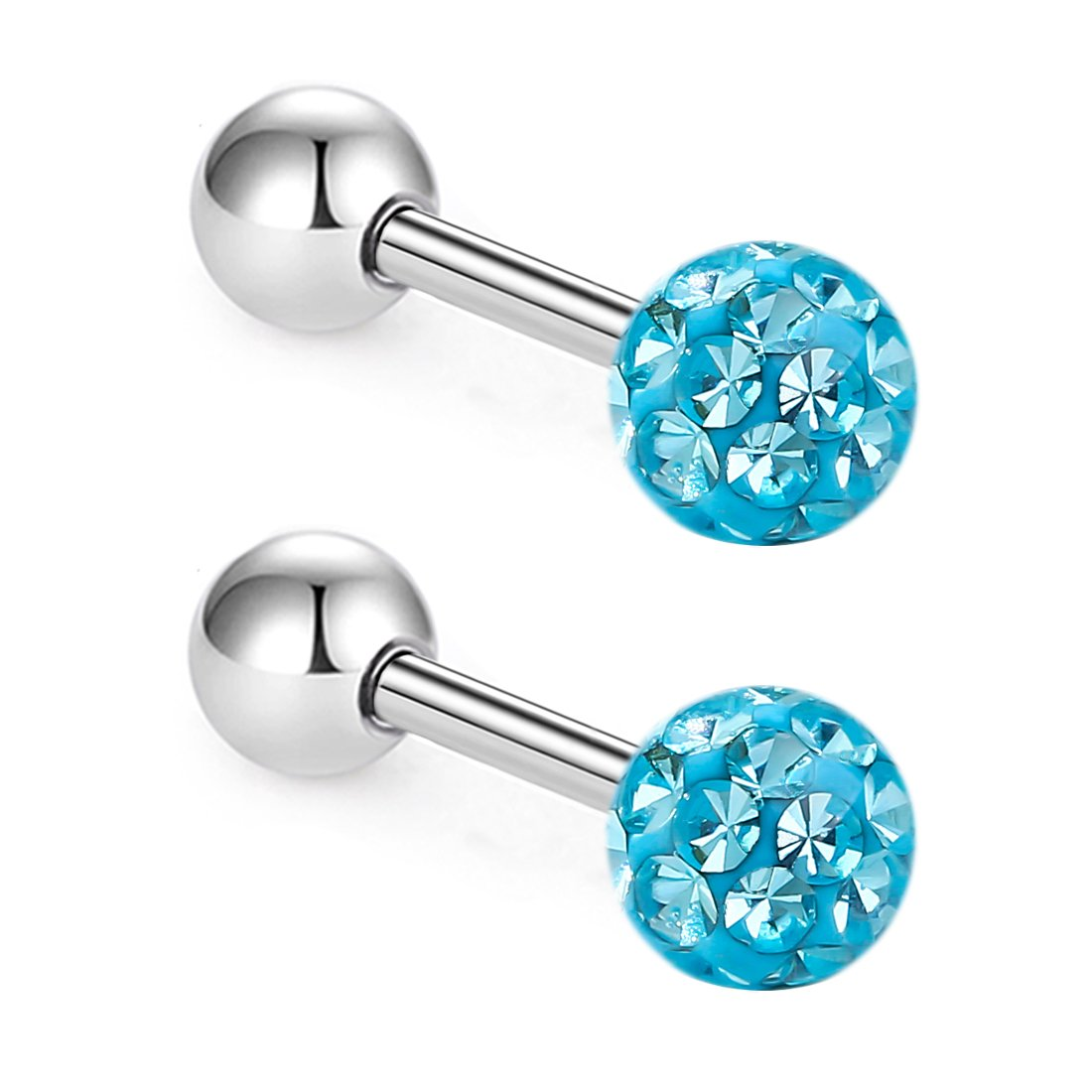ZHIYAOR 16G Hypoallergenic Tragus Cartilage Earrings Women Surgical Steel Stud Earring for Sensitive Ear Generic BYED001