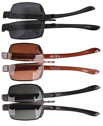 3-Stueck duenne Metallrahmen Kunststoff Buegel faltbare Sonnenbrillen GEwJnvm3i