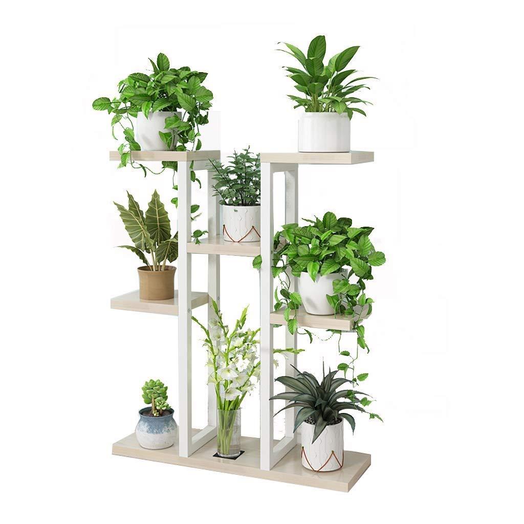 多層フラワースタンド、金属植物ディスプレイスタンド、リビングルームオフィスコーナースタンド、理想的なテラス、ポーチ、バルコニー、庭 (色 : #4) B07RTPLJQR #4