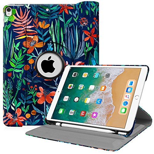 Fintie iPad Pro 10.5 Case with Built-in Apple Pencil Holder - 360 Degree Rotating Stand Protective Cover with Auto Sleep/Wake Feature for Apple iPad Pro 10.5 Inch 2017, Jungle Night