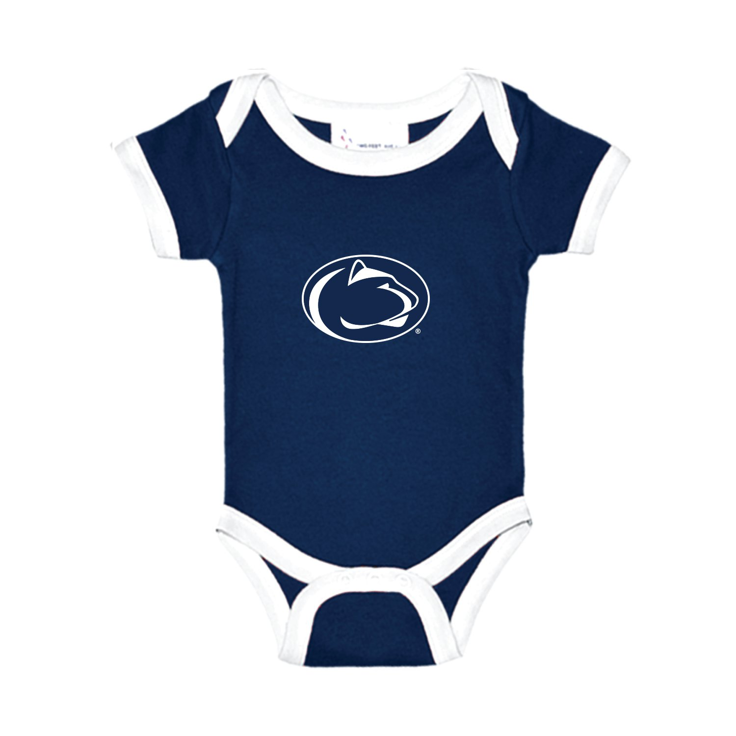 Penn State Nittany Lions Two Tone NCAA College Newborn Infant Baby Creeper