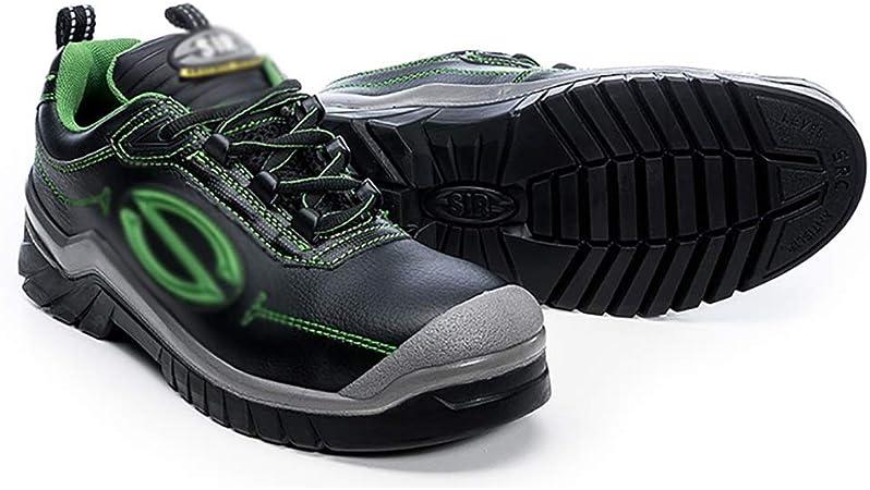 Zapatos de seguridad For hombre de seguridad de acero Puntera de seguridad capacitadores, Caja cuero resistente al agua botas de trabajo, transpirable punzantes formadores de prueba botas de trabajo: Amazon.es: Hogar
