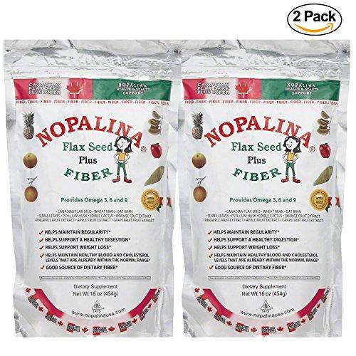 - 2 Pack Nopalina 16oz Omega 3 6 & 9 Cleanse & Detox Supplement