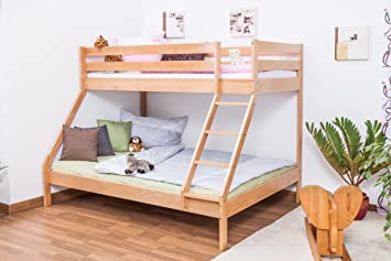 Etagenbett Buche Extra : Kinderbett etagenbett buche massiv vollholz weiß lackiert
