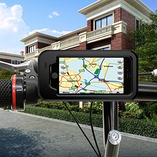 SANTUFLY Bicycle phone holder 360 Degree Rotate Phone GPS Bike Holder Case High Sensibility Screen Touch Waterproof Bicycle Riding Mount Cover for iphone 6/6s/7 4.7in Screen