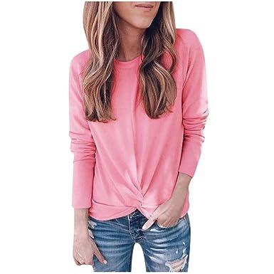 Realde - Blusa de Invierno para Mujer, Cuello Redondo, Color Liso ...