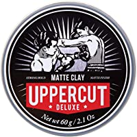 Uppercut Deluxe Matt Clay Pomade 2.1oz - Strong & Reworkable Hold - Dry Matte Finish