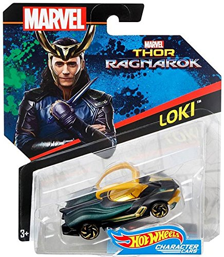 Hot Wheels Marvel Character Car Loki  Die-Cast Vehicle
