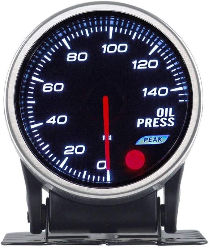 Color : 0-10BAR WXQ-XQ 2 Inch Colorful Car Modified Oil Pressure Gauge Sensor