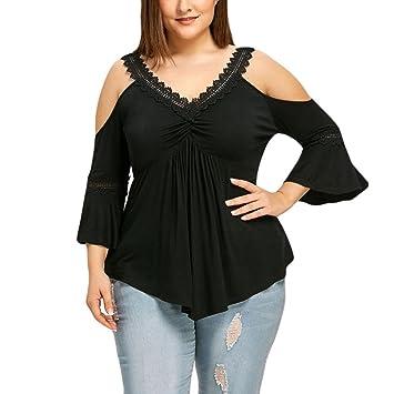 LILICAT® Camisetas de Tallas Grandes para Mujeres (M ~ 2XL), 2018 Summer