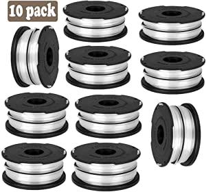 Karen DF-065 String Trimmer for Black Decker, Replacement Spool Line GH700 GH710 GH750, Dual Line Weed Trimmer Spool 36ft, Cordless Trimmer Edger Replacement 90517175 (10 PCS)