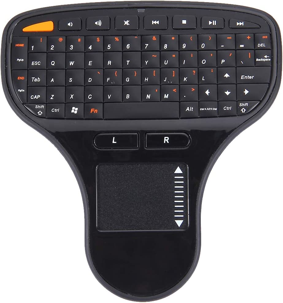 Computer N5903 2.4GHz Mini Wireless Keyboard with Touchpad /& USB Mini Receiver Humanized Design Size: 127 x 134 x 25mm Black Color : Black